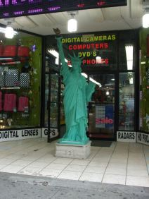Miniature statue of Lady Liberty
